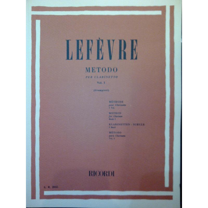 Lefèvre – metodo per clarinetto vol 1