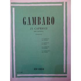 Gambaro – 21 capricci