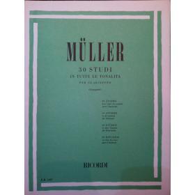 Mùller – 30 studi in tutte le tonalita per clarinetto