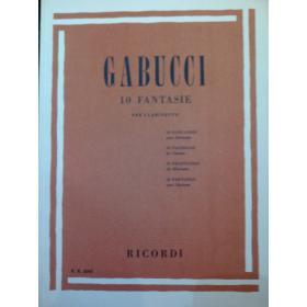 Gabucci – 10 fantasie per clarinetto