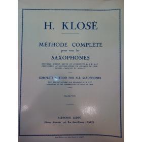 USATO: H.Klose – Methode complète pour tous les saxophones