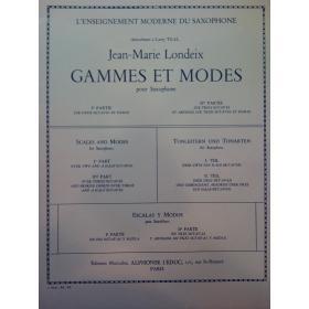 Jean Marie Londeix – Games et modes pour saxophone