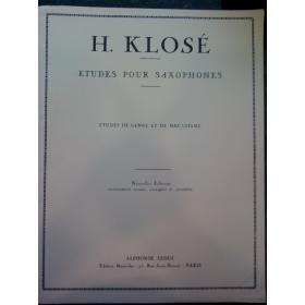 H.Klose – Etudes pour saxophones