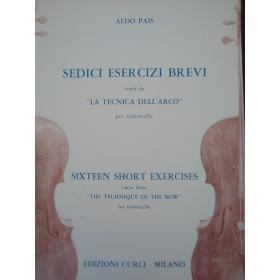 Aldo Pais – Sedici Esercizi Brevi per Violoncello