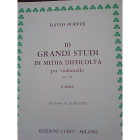 David Popper – 10 Grandi Studi per Violoncello (Op. 76 - Libro II)