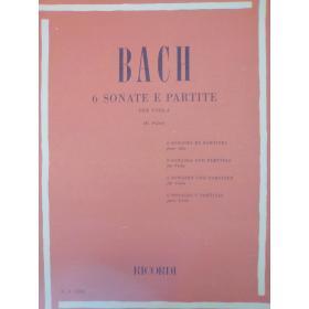 Johann Sebastian Bach – Sei Sonate e Partite per Viola