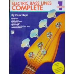 Carol kaye – electric bass lines complete volume 1