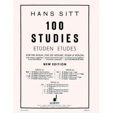 Hans Sitt - 100 Studies for the Violin (Op. 32). Book 3.