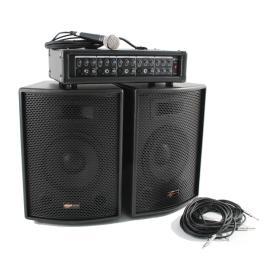 IMPIANTO VOCE SOUNDSATION PA-120 MIXER + 2 CASSE 150w