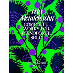 Mendelssohn - complete works for pianoforte solo