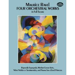 Ravel - Four orchestral works in full score