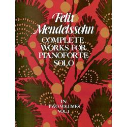 Mendelssohn - complete works for pianoforte solo vol1