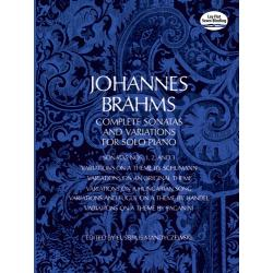 Brahms - complete sonatas and variations for solo piano