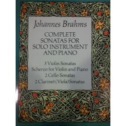 Brahms - complete sonatas for solo instrument and piano