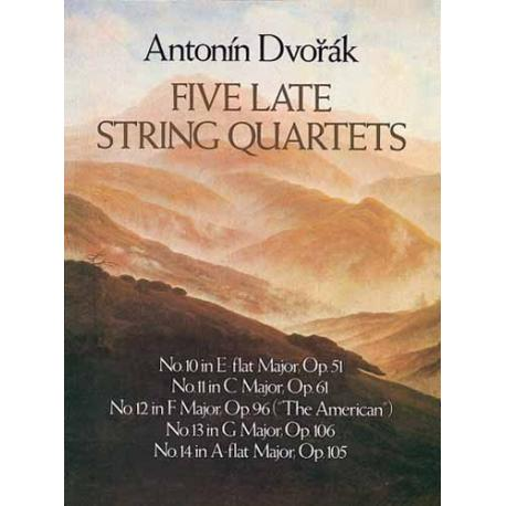 Dvorak-five late string quartets