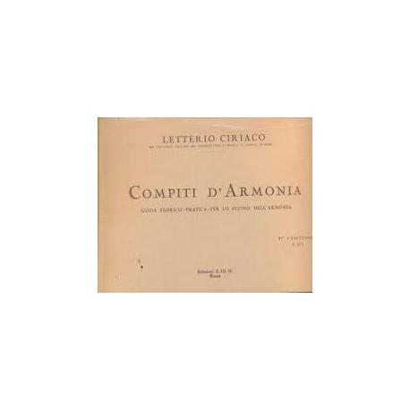 Ciriaco - Compiti d'armonia 2 fascicolo