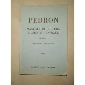 Pedron - Manuale di cultura musicale generale parte 1