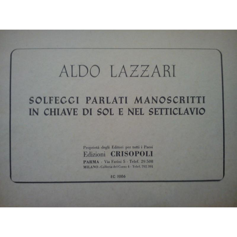Lazzari - Solfeggi parlati manoscritti