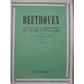 Beehoven - cadenza per il primo tempo del concerto in re maggiore.