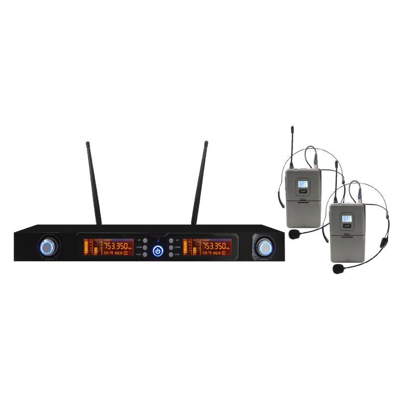 SET 7822LAV - Doppio Radiomicrofono UHF