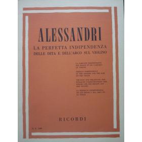 Alessandri - la perfetta indipendenza delle dita e dell'arco sul violino