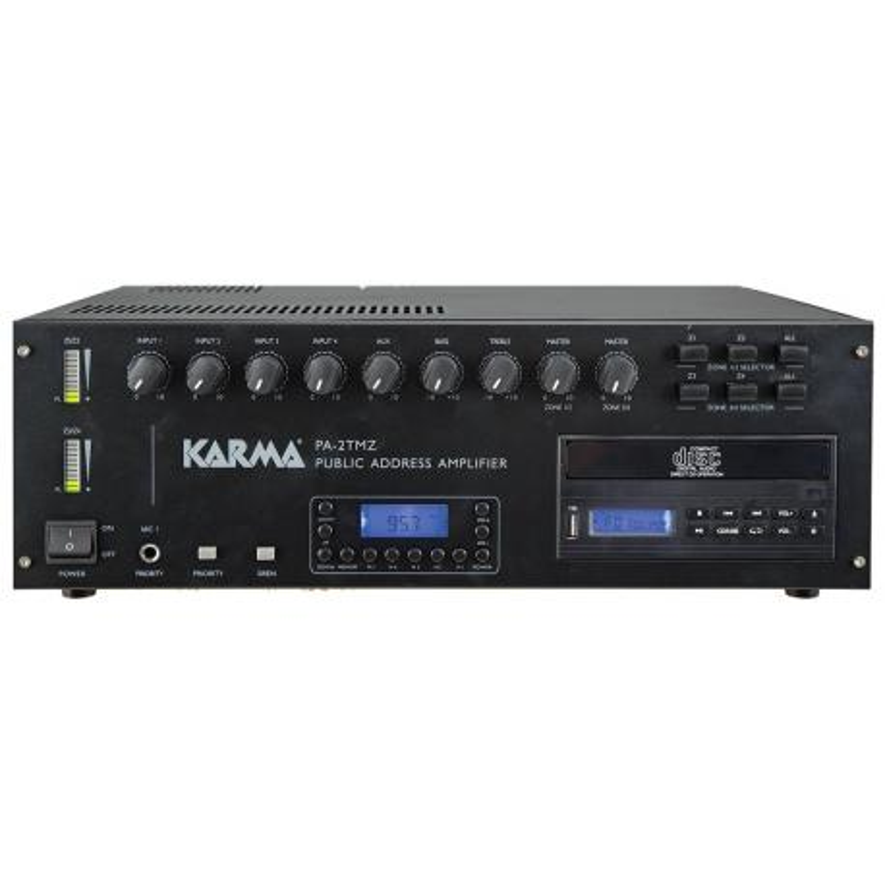 KARMA PA 2TMZ - Doppio amplificatore PA 4 zone