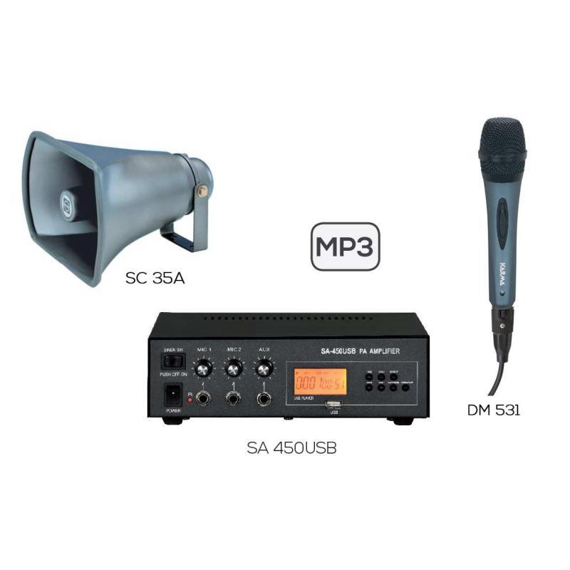 KARMA KIT SA450USB - Kit amplificazione auto