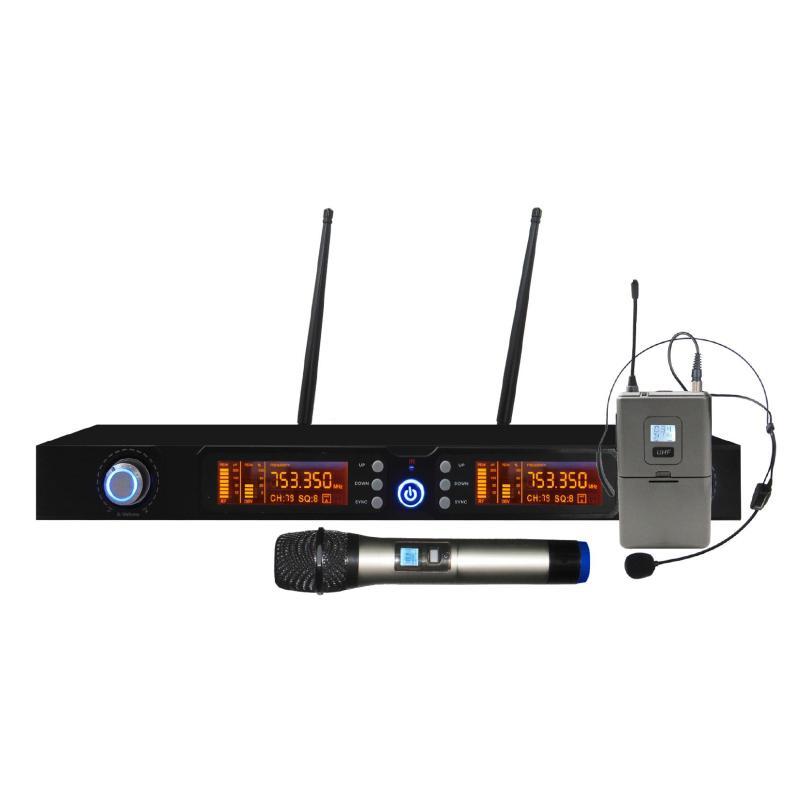 SET 7822PL - Doppio Radiomicrofono Palmare e archetto UHF