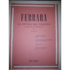 Bernardo Ferrara - Lo Studio del Violino (Vol. 1)