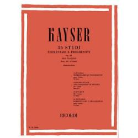 Heinrich Ernst Kayser - 36 Studi per Violino (Op. 20). Fascicolo 3 (12 Studi).