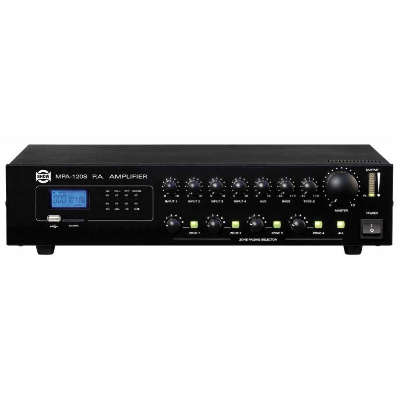 MPA 120S - Amplificatore PA 4 zone 170W