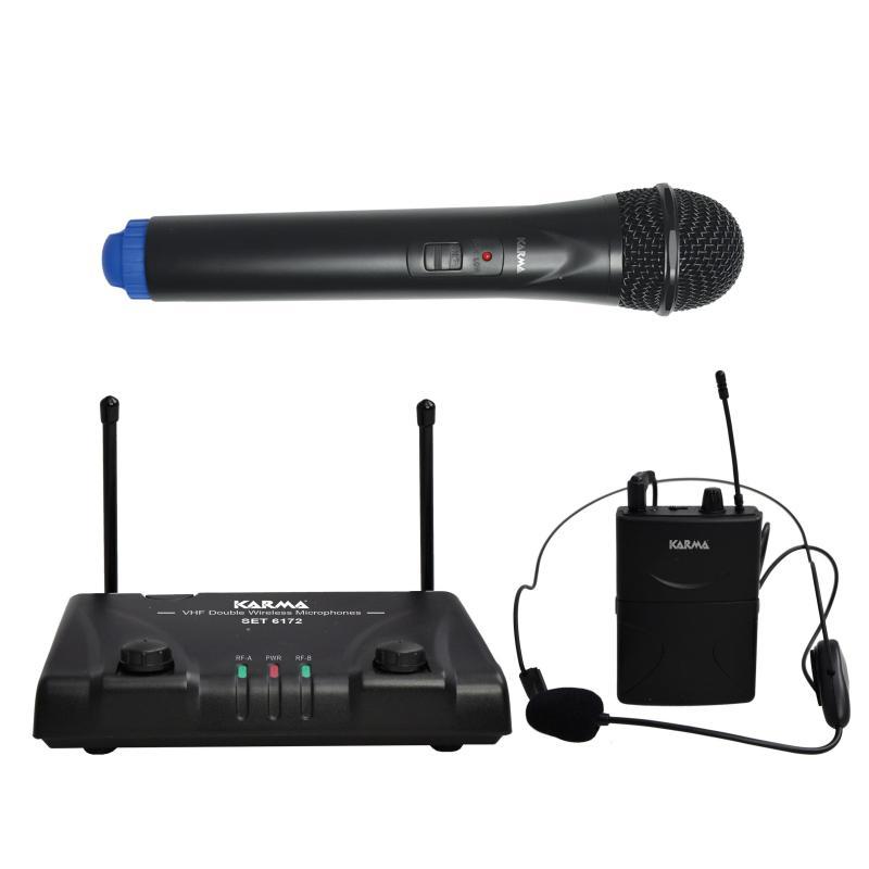 SET 6172PL-B - Doppio radiomicrofono VHF palmare +archetto