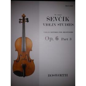 Otakar Sevcík - Violin Studies (Op. 6 Part 3)